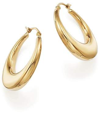14K Yellow Gold Graduated Hoop Earrings - 100% Exclusive $750 thestylecure.com