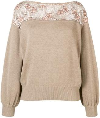 See by Chloe lace-panelled sweater