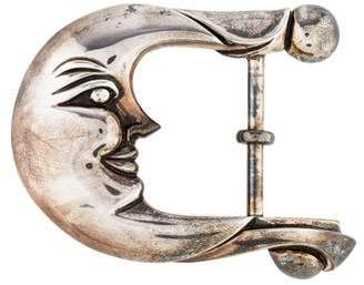 Kieselstein-Cord Sterling Crescent Moon Belt Buckle
