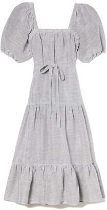 Co Square Neckline Linen Dress