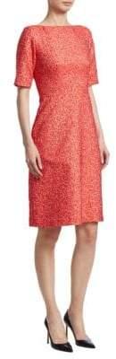 Lela Rose A-Line Jacquard Dress