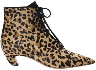 Christian Dior Pony-style calfskin lace up boots