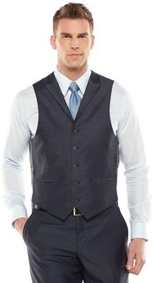 DAY Birger et Mikkelsen Men's Steve Harvey Modern-Fit Blue Shantung Vest
