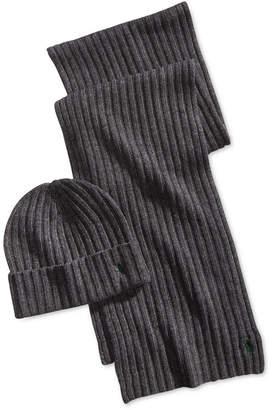 Polo Ralph Lauren Men's Classic Ribbed Hat & Glove Gift Set