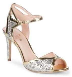 Kate Spade Oak Sparkling Ankle Strap Sandals