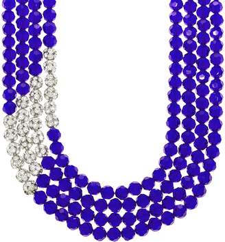 """Linea By Louis Dell'olio by Louis Dell'Olio 4-Strand Pave Bead 20"""" Necklace"""