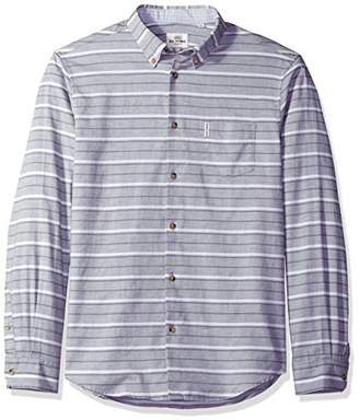 Ben Sherman Men's Long Sleeve TIPP Hortz Stripe Marl Woven