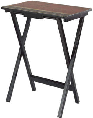 Cape Craftsmen Tuscan Wine TV Tray with Stand