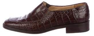 Ralph Lauren Alligator Round-Toe Loafers