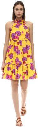 Borgo de Nor Floral Print Cotton Poplin Mini Dress