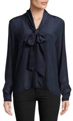 Max Mara Silk and Stretch Jersey Blouse