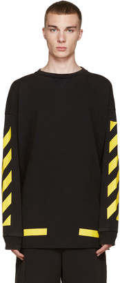 Off-White Black & Yellow Arrows Pullover $390 thestylecure.com