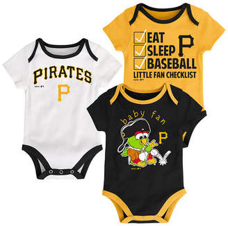 Outerstuff Pittsburgh Pirates Play Ball 3-Piece Set, Infants (0-9 Months)