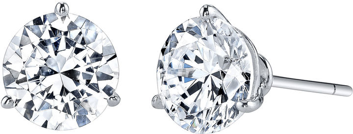 FINE JEWELRY DiamonArt Cubic Zirconia 4 CT. T.W. Stud Earrings