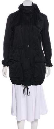 Vince Hooded Lightweight Coat