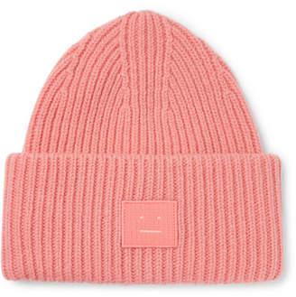 Acne Studios Ribbed Wool Beanie - Men - Pink