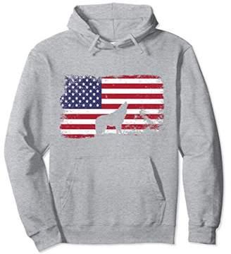 American Flag Wolf Hoodie - Usa Flag Wolf Hoodie