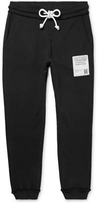 Maison Margiela Tapered Appliquéd Loopback Cotton-Jersey Sweatpants
