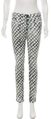 Proenza Schouler Patterned Mid-Rise Jeans