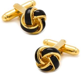 Black & Gold Knot Cuff Links