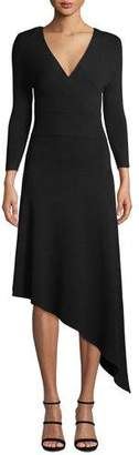A.L.C. Morrow V-Neck Long-Sleeve Asymmetrical Dress
