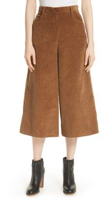 See by Chloe Corduroy Wide Leg Crop Pants