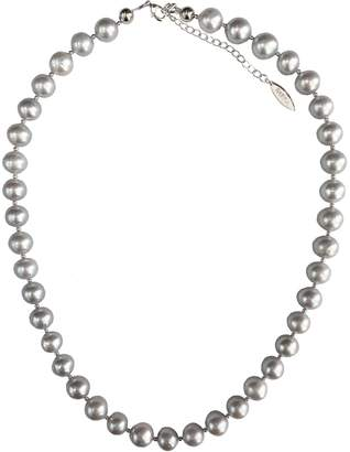 Farra - Round Grey Freshwater Pearls Choker
