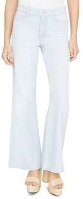Sanctuary Non Conformist Wide-Leg Jeans in White Sand