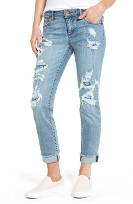 Women's Kut From The Kloth Destroyed & Patched Boyfriend Jeans $89 thestylecure.com