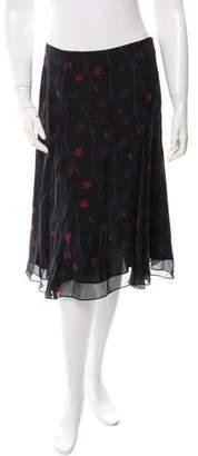 Thakoon Silk Floral Print Skirt w/ Tags