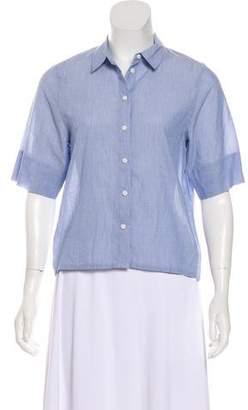 J Brand Short Sleeve Button-Up Top