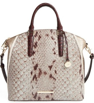 Brahmin 'Large Duxbury' Embossed Leather Satchel $355 thestylecure.com