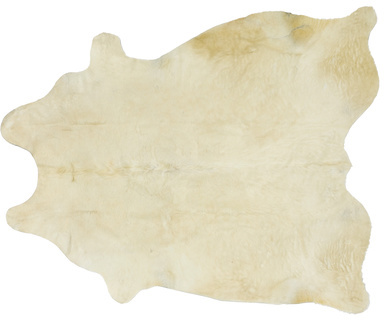 White Cowhide Floor Covering