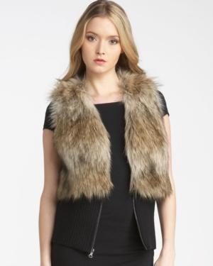 Faux Coyote Fur Vest