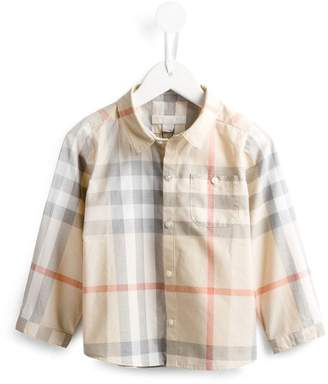 Burberry Washed Check Cotton Shirt