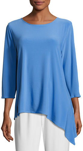 Caroline Rose Caroline Rose 3/4-Sleeve Side Fall Top, Plus Size