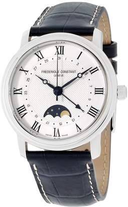 Frederique Constant Men's Silver Dial Leather Strap Watch FC330MC4P6XG (Certified Reurbished)