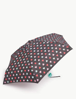 Marks and Spencer Heart Print Compact Umbrella