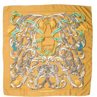 Hermes Le Mors A La Conetable Silk Scarf