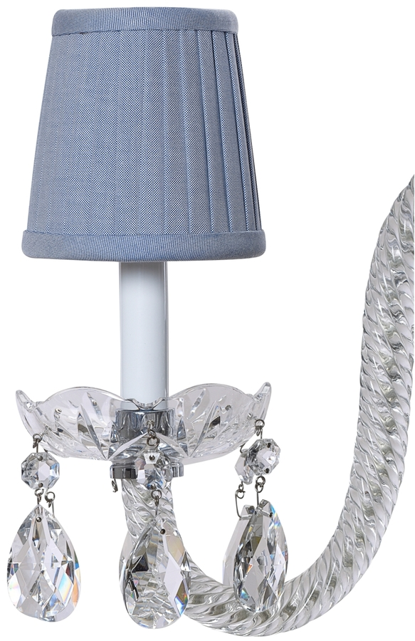 Brooks Brothers Cotton Oxford Pleated Chandelier Shade