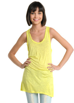 Fab Sleeveless Slub Tunic