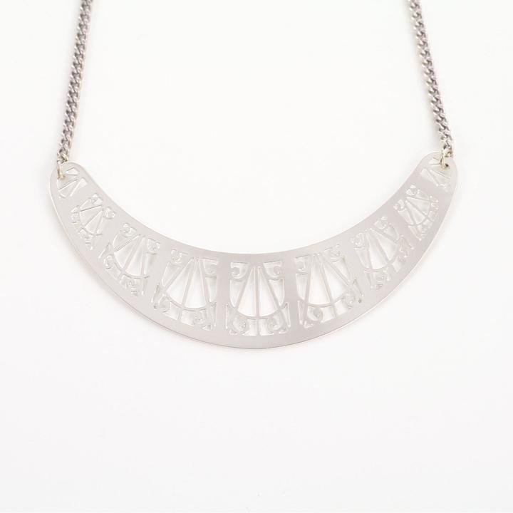 Mademoiselle Felee Artdeco Necklace Silver