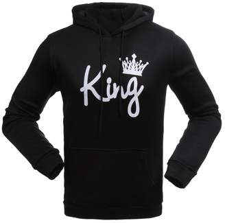 52f2cca5ff Meowstyle D-Sun Couple Matching Queen Crown Raglan Hoodie Pullover Hooded  Sweatshirt