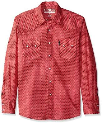 Cinch Men's Modern Fit Long Sleeve Snap Print Shirt