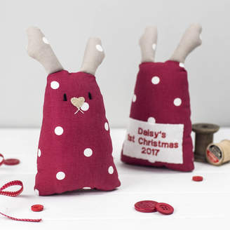 Miss Shelly Designs Personalised Reindeer Toy