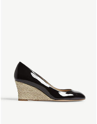 LK Bennett Eevi patent leather wedge courts