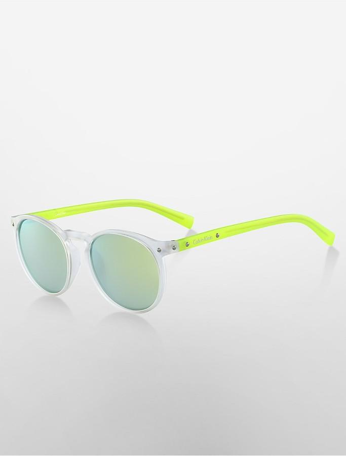 Calvin KleinRound Neon Sunglasses