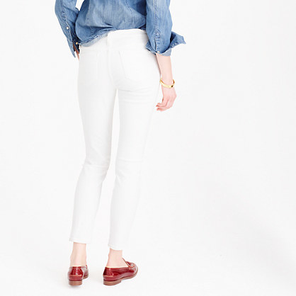 J.Crew Toothpick jean in white