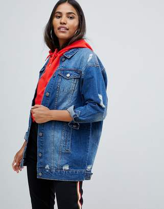 Noisy May Mangie oversized denim jacket
