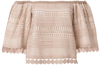 Alexis Finn Off Shoulder Nude Lace Top